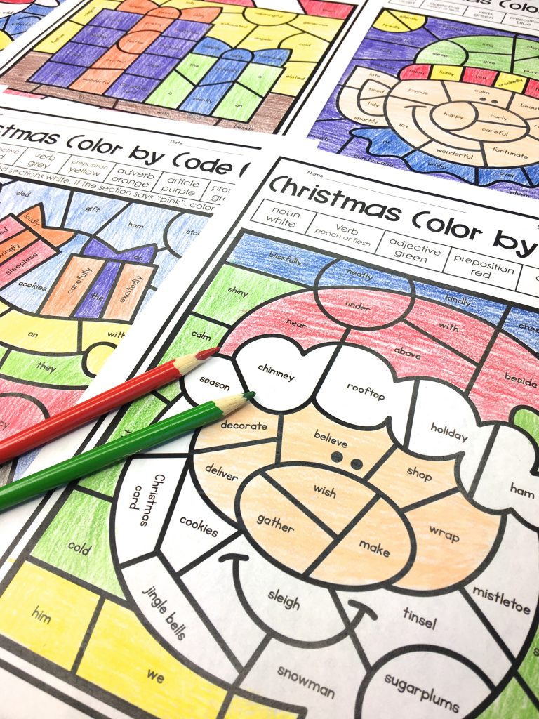 Christmas Activities for Kids Parts of Speech