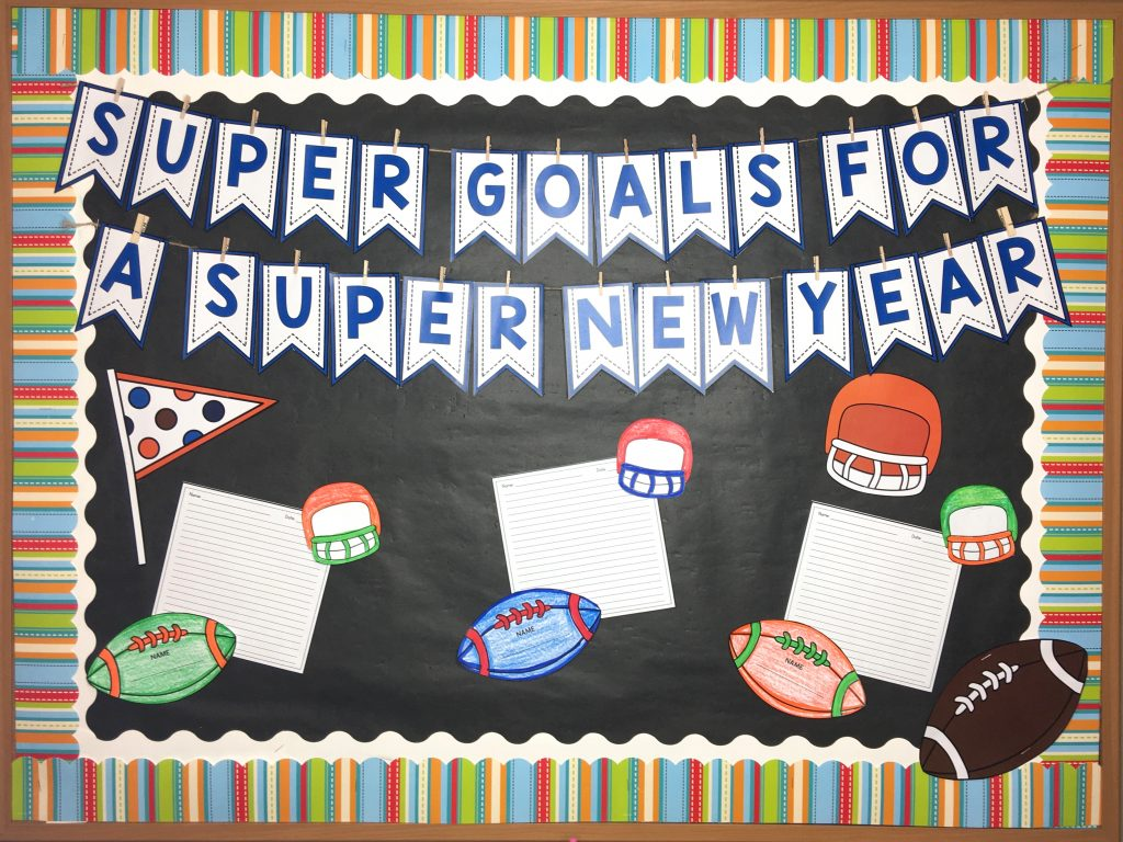 new year's resolution worksheets and writing display