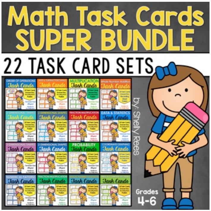 math task cards for the entire year