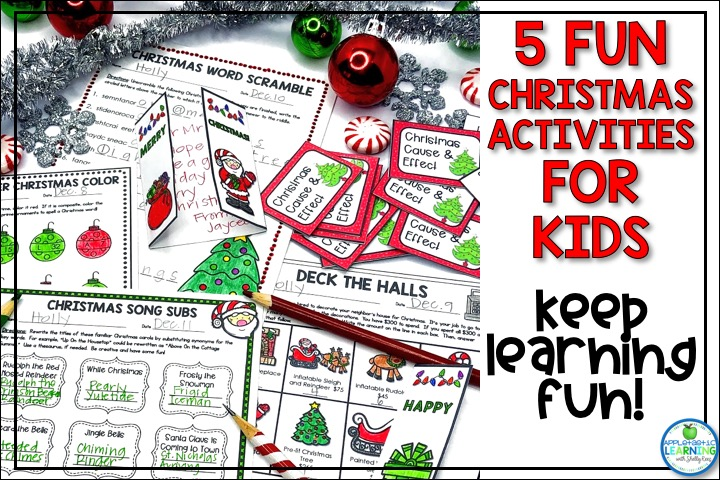 Christmas Activities for Kids in the Classroom