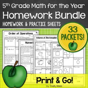 fifth grade math worksheets for all skills and standards