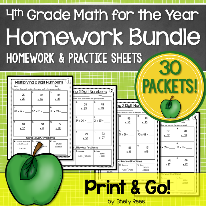 fourth grade math worksheets for all skills and standards