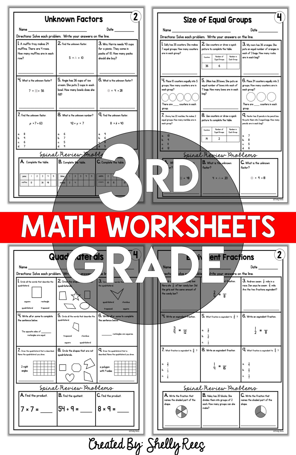 3rd grade skills based math worksheets