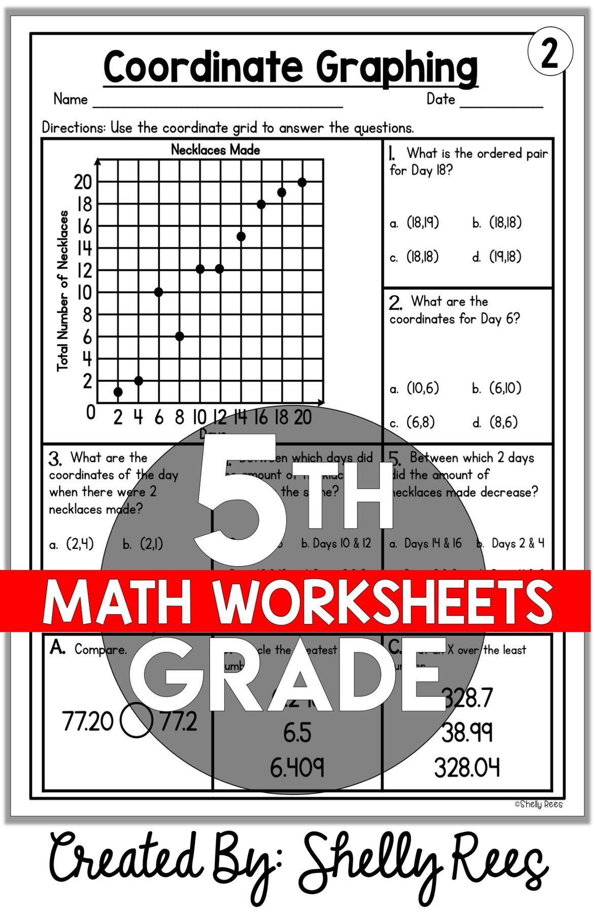 5th Grade Math Worksheets Free and Printable - Appletastic ...