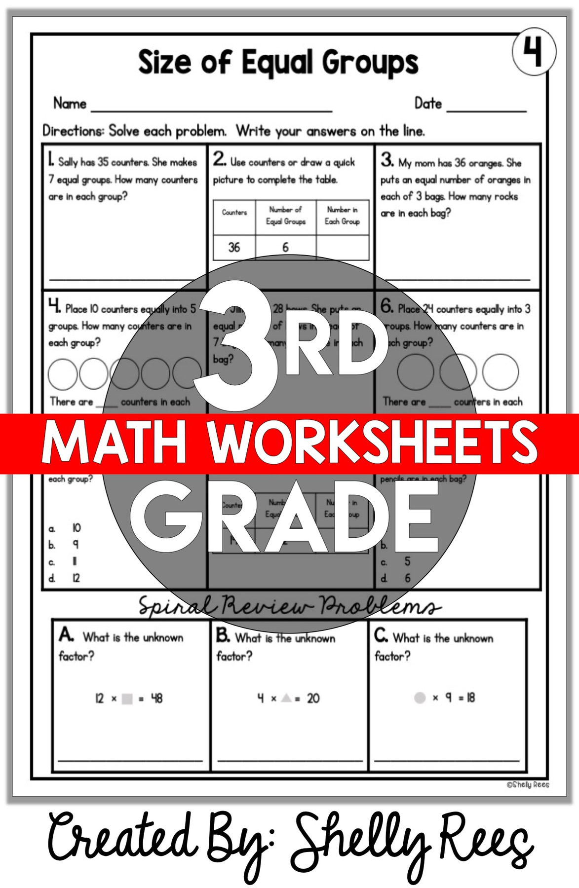 - 3rd Grade Math Worksheets Free And Printable - Appletastic Learning
