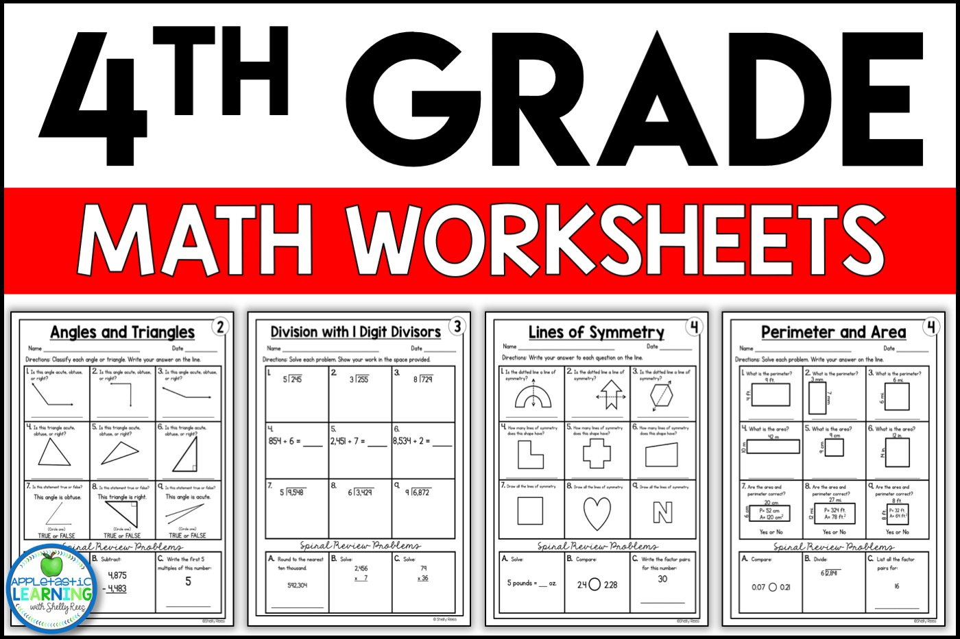 4th Grade Math Worksheets Free and Printable - Appletastic ...