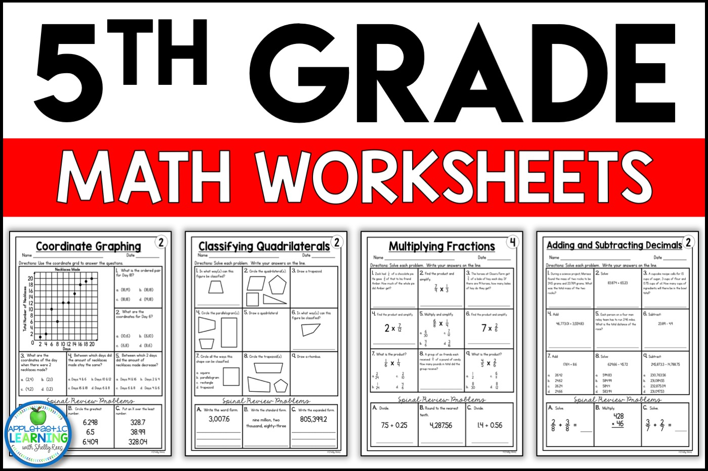 - 5th Grade Math Worksheets Free And Printable - Appletastic Learning