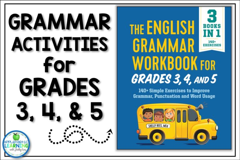 Grammar activities for 3rd grade 4th grade and 5th grade