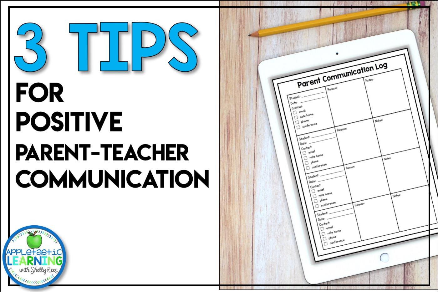 parent teacher communication tips and ideas