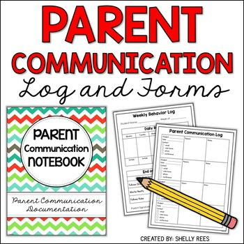 parent communication log and forms resource