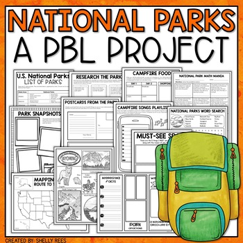 national park project based learning activity for grades 3 - 6