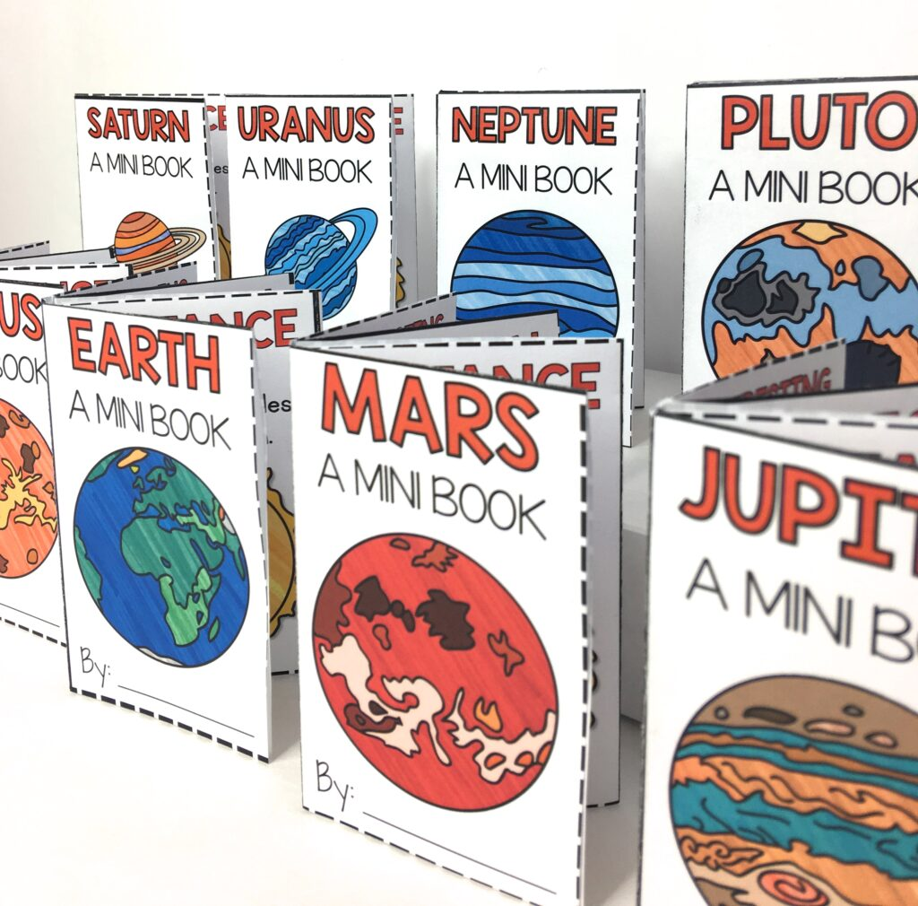 mini-book solar system project for students