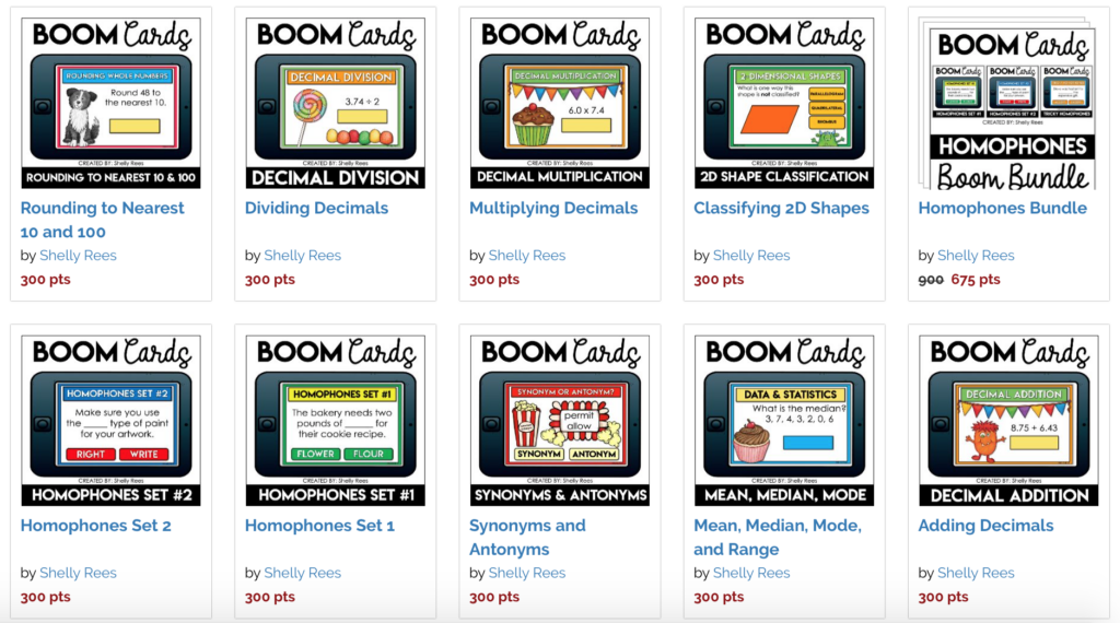 Boom Cards in the Boom Learning Store