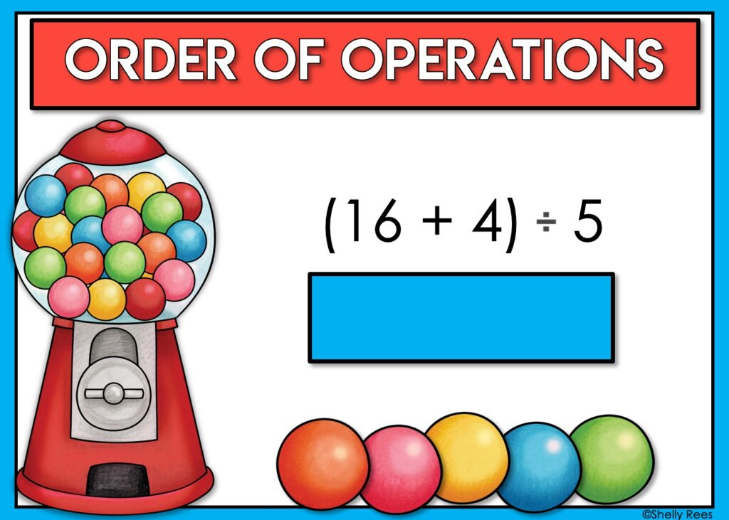 Order of Operations Boom Cards Digital Task Cards