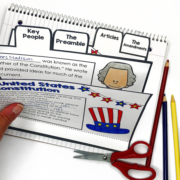 constitution foldable for interactive notebook