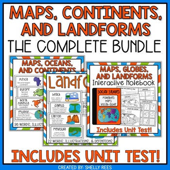geography resource bundle with posters and word wall