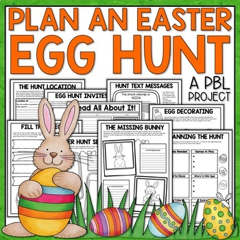 Easter Project Based Learning Activity with a focus on language arts and math