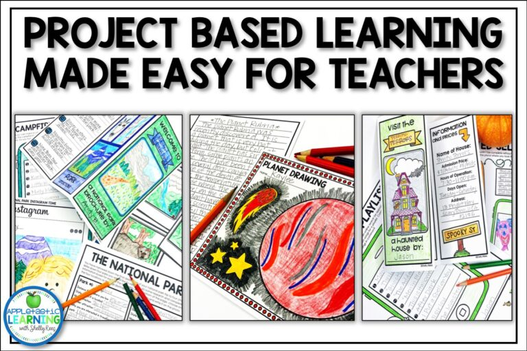 easy project based learning ideas to save teachers time and money