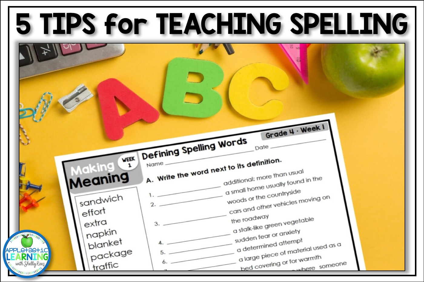 5 tips for teaching spelling in the upper elementary classroom