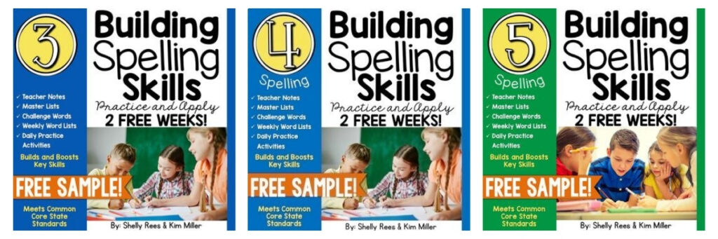 free spelling curriculum for third, fourth and fifth grade