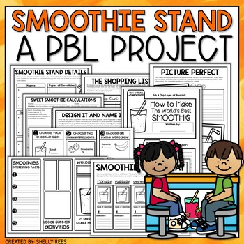 create a smoothie stand project based learning activity for elementary