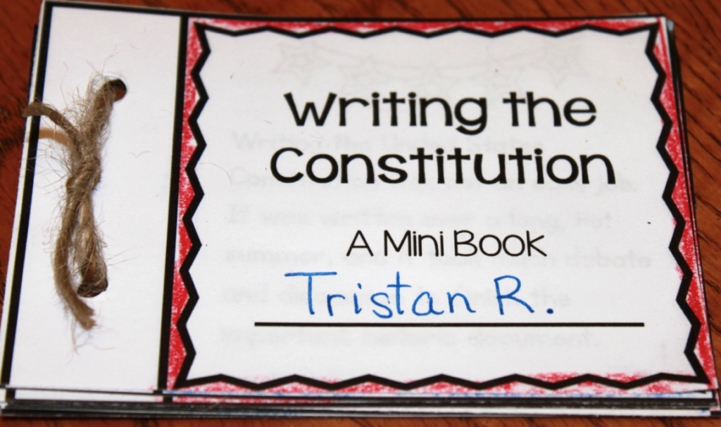 Constitution Day Activity Reading about the Constitutional Convention