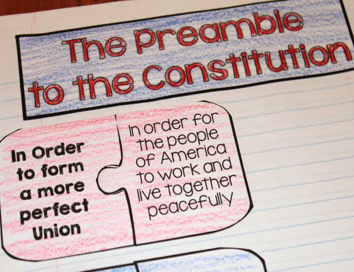 Constitution Day Activities are easy with these Preamble Puzzles