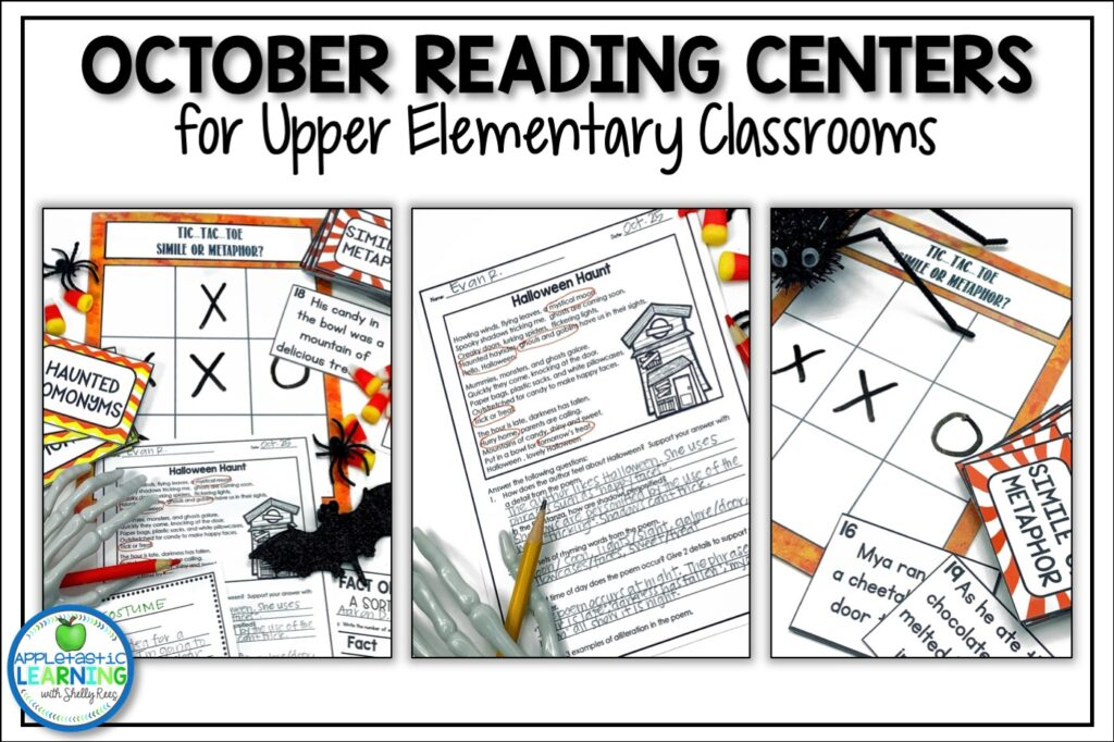 October Language Arts activities for upper elementary