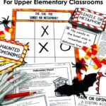 October reading centers for upper elementary