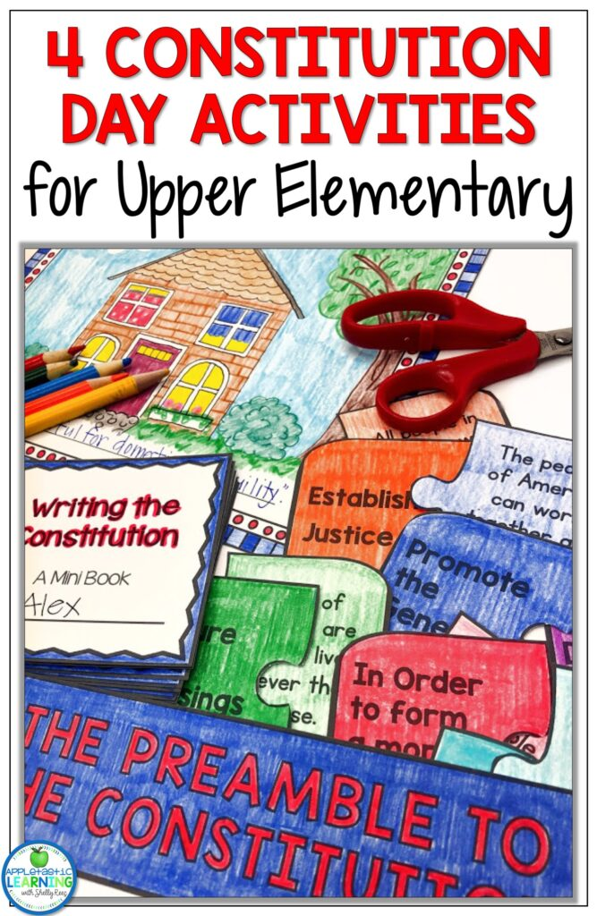 Constitution Day activities for upper elementary students