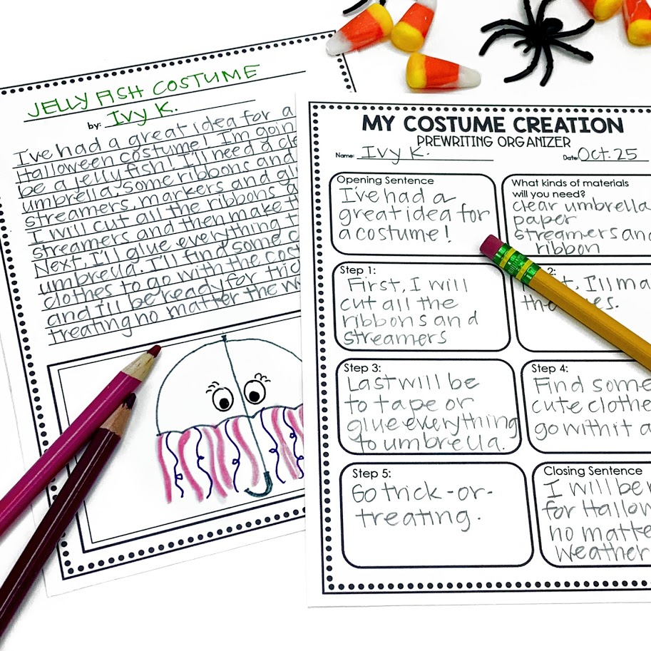 How to create a costume Halloween writing