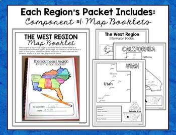 map booklets for the regions of the U.S.