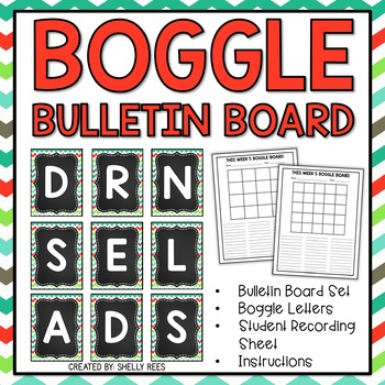 Create a fun, interactive and educational bulletin board with this Boggle word building kit
