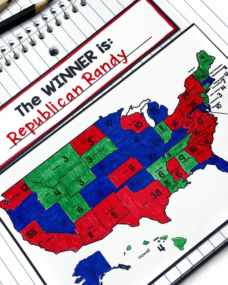 Electoral College mock election activity