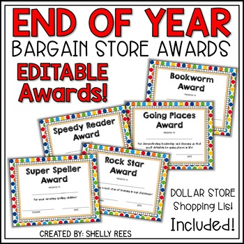 end of the year dollar store awards