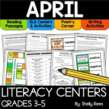 April Reading Activities for the Upper Elementary Classroom