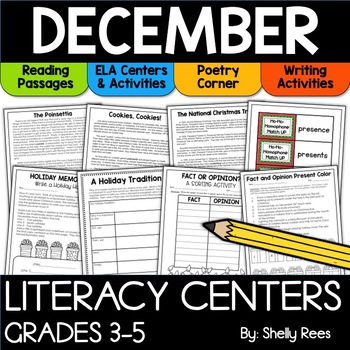 December reading centers for upper elementary classrooms
