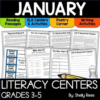 January Reading Activities for Upper Elementary