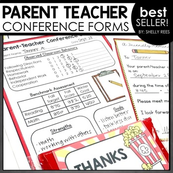 These parent teacher conference forms include everything you need to be successful.