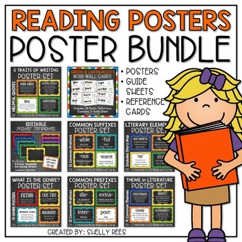 These reading posters will help you teach a variety of reading skills and concepts and create reference tools for students to use all year long.
