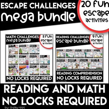 escape room bundle with math and reading escape room activities