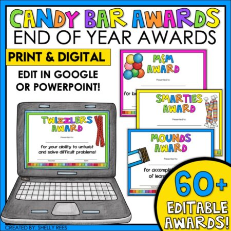 candy bar awards for end of year student recognition