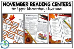 November reading activities are a great way to fill your lesson plans with fun skills based activities