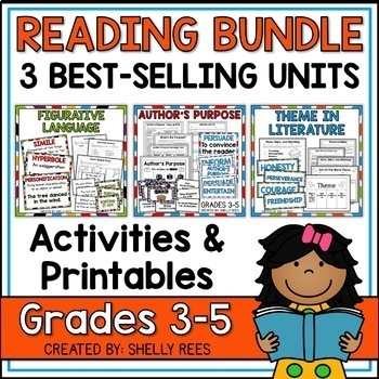 This reading bundle includes teaching resources and activities for teaching theme, author's purpose and figurative language