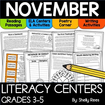 November reading activities