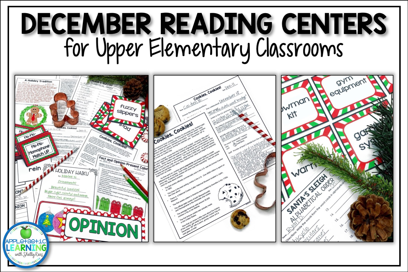 December reading activities for the upper elementary classroom