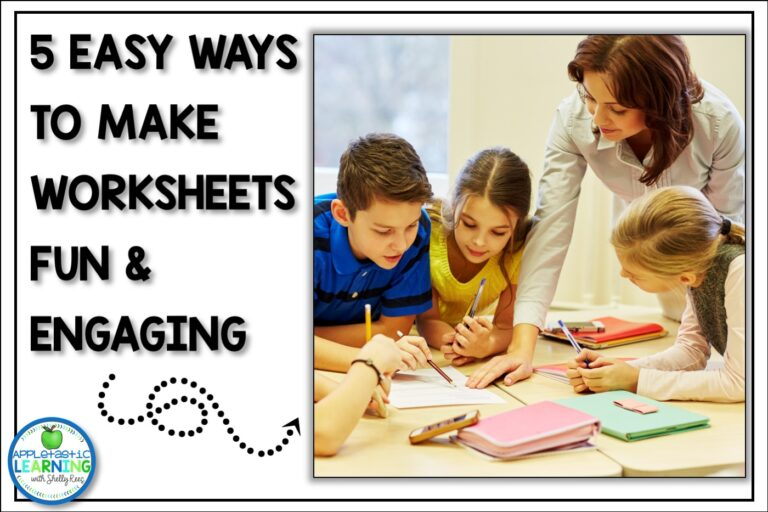 5 Ways to Make Worksheets Fun and Engaging in the Upper Elementary Classroom