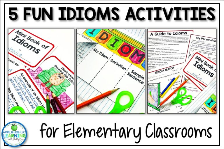 Fun Idiom activities for the upper elementary classroom