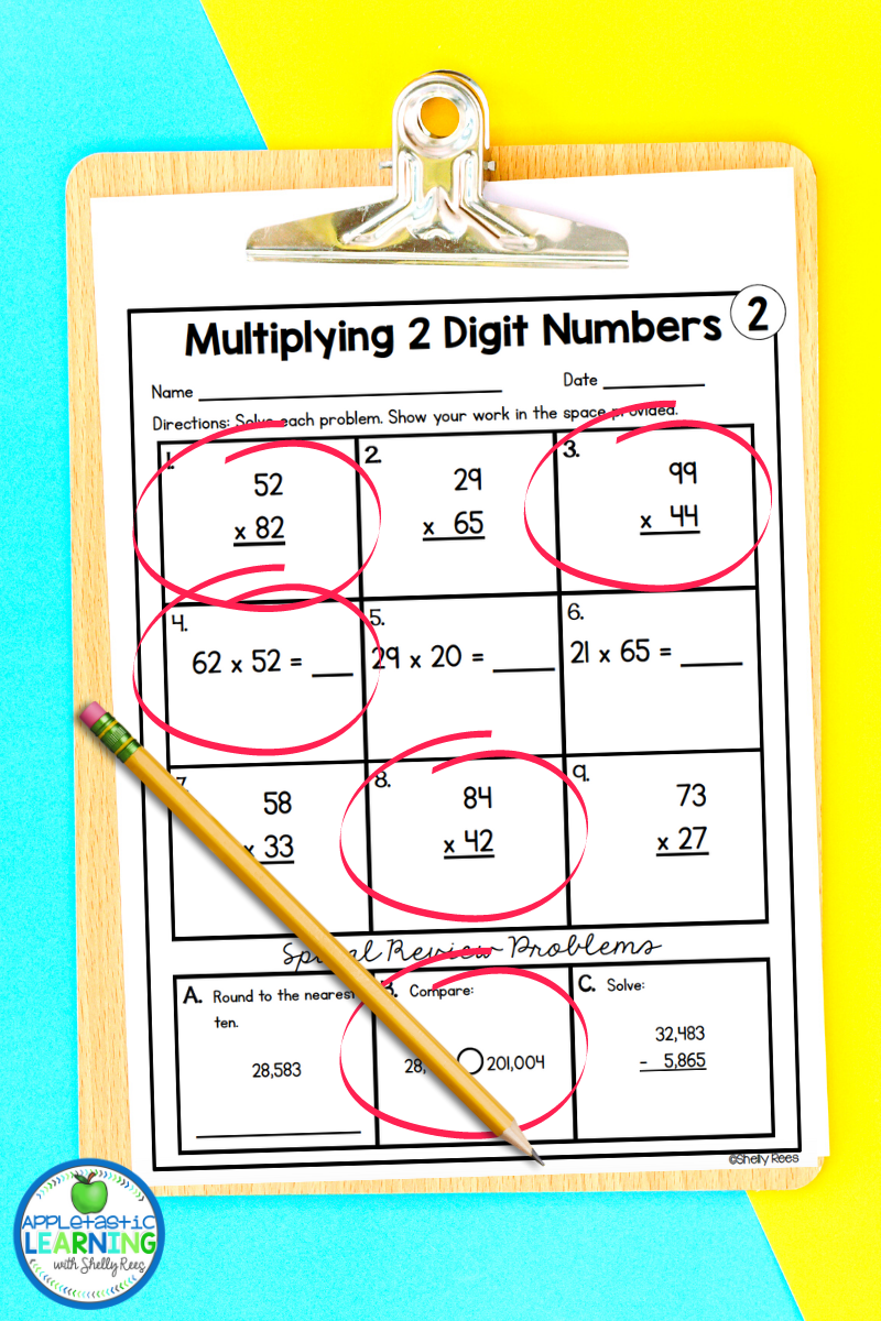 Make worksheets fun by letting students choose which problems to complete