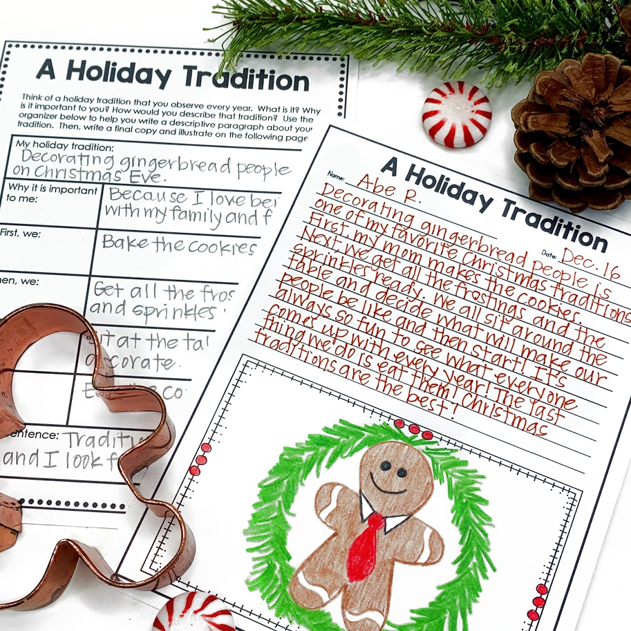 holiday tradition writing for elementary students